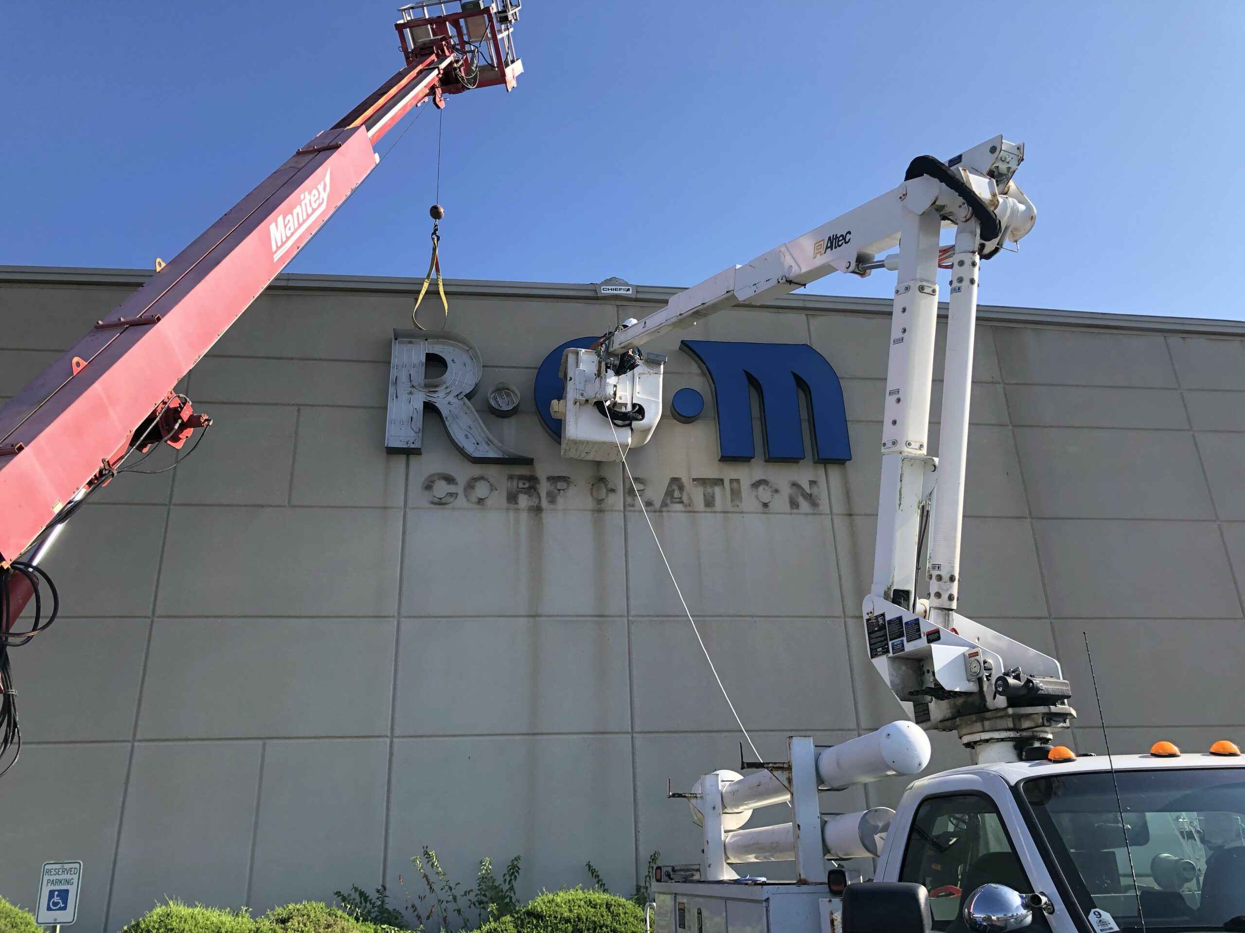Removal of sign, sign removal and disposal, exterior sign